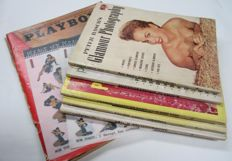 Vintage; Lot with 5 Glamour Photography magazines-1952/1959