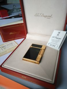 S.T DUPONT lighter line 2 GATSBY lacquer of China and gold plated