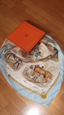 "Hermès – Very rare scarf ""les robes"" with its original Hermès box"