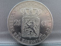 The Netherlands – 2½-guilder coin 1870 Willem III – silver