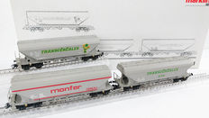 Märklin H0 - 46321 - 3 Silo carriages of the FS/SNCF/NMBS