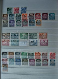 German Empire 1933/1945 - Collection on a stock of pages