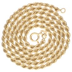 14 kt yellow gold rope link necklace - 51 cm