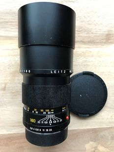 Leica 180 lens Leitz Wetzlar Elmarit-R 1:2.8/180 number 3190942 produced in Germany in 1982