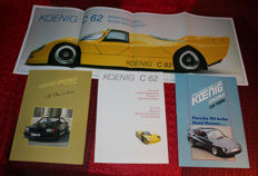 KOENIG SPECIALS - collection - 7 brochures incl. C62, Mercedes-Benz, Porsche 911, Ferrari Testarossa, Lamborghini Countach.