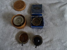 Collection of reproducers including Cremona, Columbia, Goldring Turvel Electra, Reform Schall cos