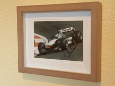 Mika Hakkinen - 2-time world champion Formula 1 - hand autographed 3D framed photo + COA.