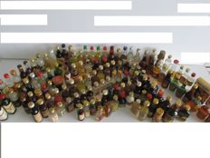 Liquor miniature bottles collection vintage 135 bottles from Apple cider to Wine and Vodkas, period 1950 - 1990