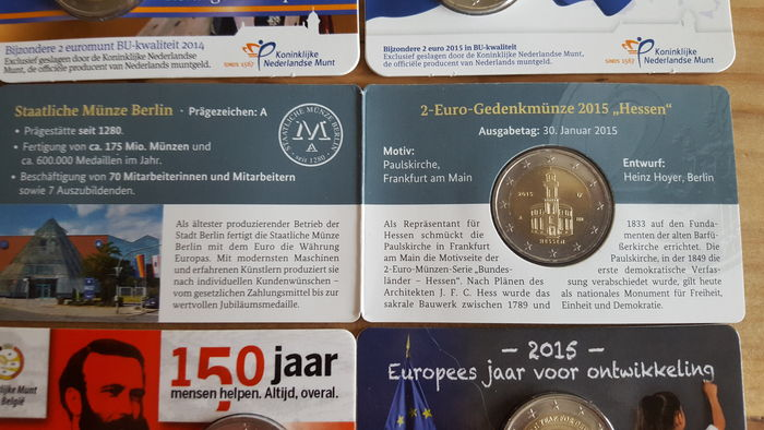 Belgium Germany And The Netherlands 2 Euro 20122016 8 Pieces