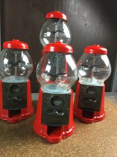 Lot of 4 gumball machines - 21st century