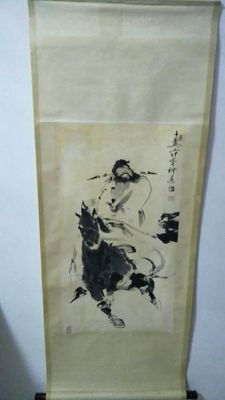 Hand-painted painting after Fan zeng - China - Second half of the 20th century.