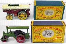 Lesney Matchbox MoY - Various scales - Aveling & Porter Steamroller No.11 and Fowler Showman's Engine No.9