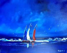Mehenni - The three boats in the night - (Les trois barques dans la nuit)