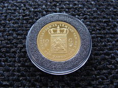 "The Netherlands - medal ""10 guilder 1818 Willem I' restruck in gold"