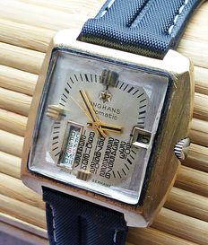 Junghans Calendarium Automatic 25 Jewels -- men's wristwatch from the 1960s -- very rare collector's item