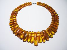 Natural Baltic honey amber necklace, 54 gram