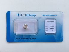 0.83 ct Brilliant cut Diamond D P2, Exceptional White + (D)