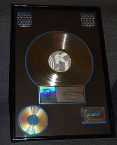 "The Rolling Stones Double Platinum ""Steel Wheels"" Usa Riaa Record award sales disc presentation"