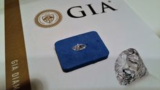 Marquise cut diamond – Colour D, clarity IF – 0.56 ct – GIA Report.