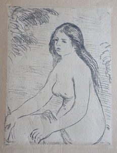 Pierre Auguste Renoir after - Femme Nue Assise