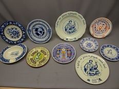 Dutch ceramics - Lot of 10 commemorative items.