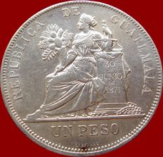Guatemala – 1 Silver peso – 1894 – LIBERTAD 15 September of 1821