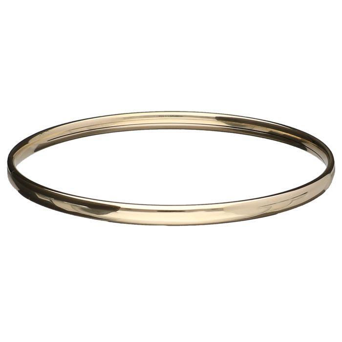 14 kt yellow gold bangle – 60 mm