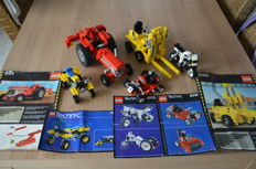 Technic - 850 + 851 + 8810 + 8815 + 8826 - Tractor + Fork Lift + Alpha Racer + Speedway Bandit + ATX Sport Cycle