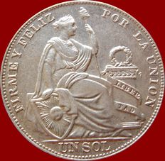 Republic of Peru – 1 silver Sol – Lima – 1934