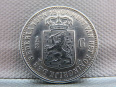 The Netherlands – ½ guilder 1904 Wilhelmina – Silver