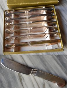 Christofle - 6 small butter knives (each piece weighs 20 grams and is 9.8 cm long) - In excellent condition