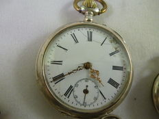 Lot of four silver pocket watches from the early 1900s