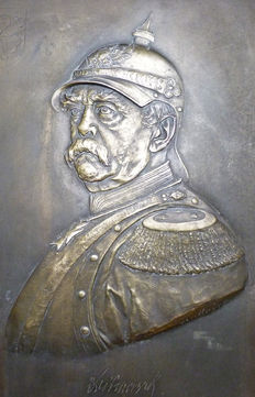 Large Bronze Plaque of Chancellor Otto Von Bismark