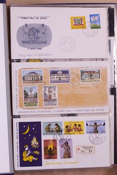 Suriname, Antilles and New Guinea 1956/1983 - Collection of FDCs in 4 albums