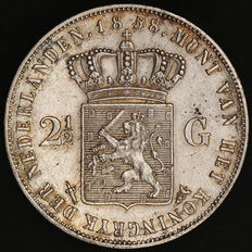 Netherlands – 2½ guilders 1858 – Willem III – Silver
