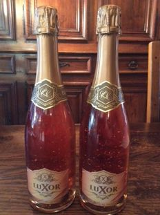 Luxor Pure Gold 24K Brut Rose Champagne - Limited edition - 2 bottles.