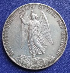 Old Germany, Württemberg - victory thaler 1871 - silver