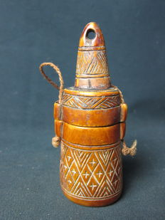 Antique ivory powder container - BACONGO - D.R. Congo