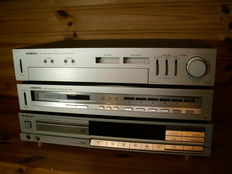2 Japanese top brands in 1 set: amplifier; ONKYO A-25 and tuner T-25; TECHNICS CD player; SL-P200