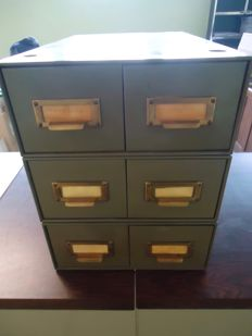 Acior - Vintage desk drawer cabinets for filing cards or other items, ca. 1955