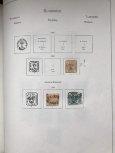 Romania 1862/1941 - Collection in Kabe clamp album