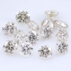 14 Round Brilliant Diamonds – 0.42 ct. - No Reserve