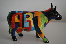 Cynthia S. Hudson voor Cowparade - Art of America  - Medium met doos en tag