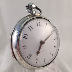 Pemberton London pocket watch - fusee verge escapement - double case - 1837