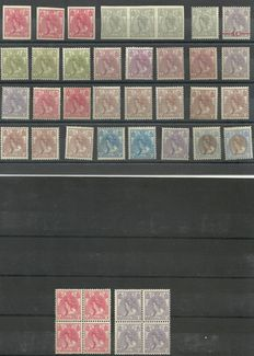The Netherlands 1899 - Selection with colour variations from Fur Collar series