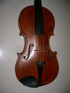 Beautiful flamed old German violin with a lot of tone
