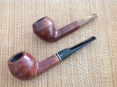 "Two gorgeous bulldog pipes, Savinelli "" Bionda "" balsa filters , plus GBD, must see !!"