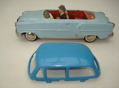 Arnold, Western Germany - Length 25 cm - Tin Opel Olympia Coupe / Convertible with friction motor, 50s/60s