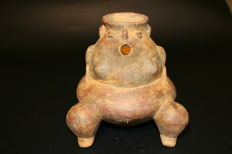 Pre-Columbian Ceramics - container shaped anthropomorphic female 165mm x 160mmm