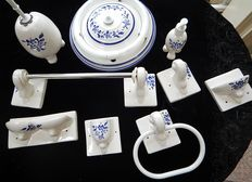 9-pieces ceramic bathroom set